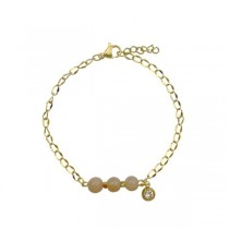 Armband Agaat & Diamantje Goud